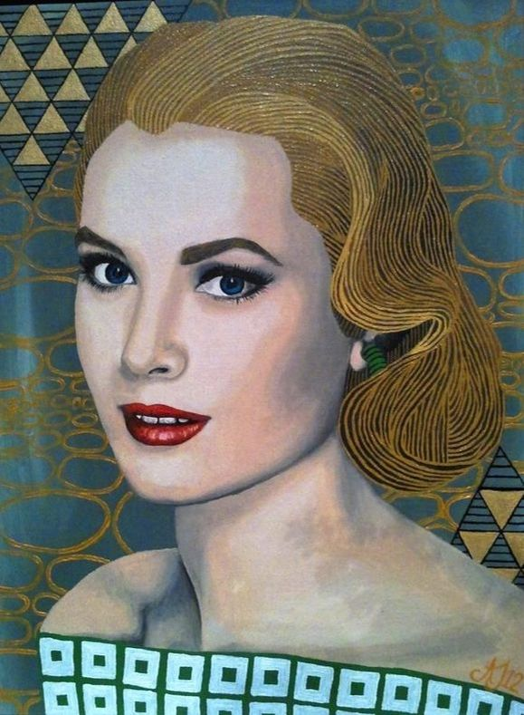 Portrait of Grace Kelly Oil pianting by Alison Jacuba